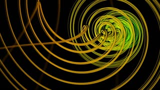 Computer generated   animation of  spiral shape spins