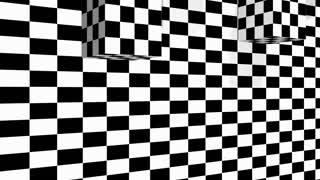 Moving cubes on checkered plane - animation