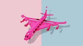 shape morphing - dynamic voxels 3D visualization