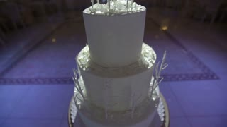 Beautiful cake stands in the banquet hall