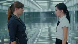 Business kung fu fight two women