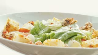 Cooking salad of grapes, cabbage, mozzarella cheese.
