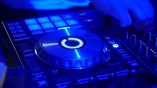 Nightclub DJ Hands Close Up