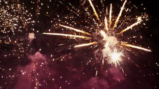 Abstract colored firework background .