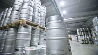 Warehouse keg at the brewery.