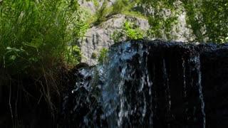 Waterfall mountain landscape