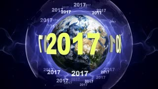 2017 New Year Numbers Around the World, Loop, 4k