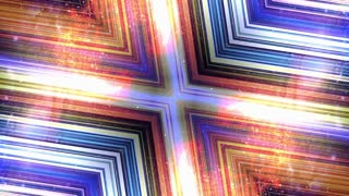 Abstract Technology Kaleidoscope Animation, Rendering, Background, Fiber Stripes, Loop, 4k