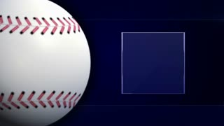 Baseball Ball and Monitor, Background Loop, 4k