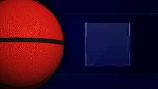 Basket Ball and Monitor, Background Loop, 4k