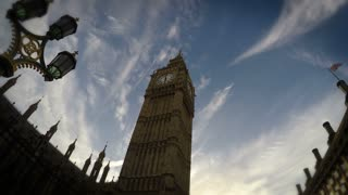 Big Ben, Time Lapse Fast, London, 4k