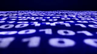 Binary Code Numbers Background, Loop, 4k