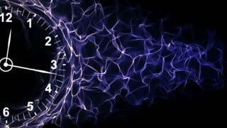 Clock and Fibers Form Ring, Time Concepts Background, Loop, 4k