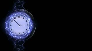 Clock in Fibers Ring Animation, Rendering, Background, Loop, 4k