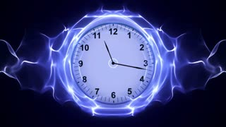 Clock, Time Travel in Fibers Ring, Rendering, Animation, Background, Loop, 4k