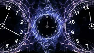 Clocks and Fibers Form Ring, Time Concepts Background, Loop, 4k