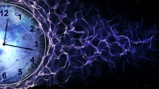 Clocks and Tunnel in Fibers Ring, Background, Loop, 4k