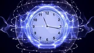 Clocks, Time Travel in Fibers Ring, Rendering, Animation, Background, Loop, 4k