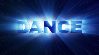 DANCE Text Animation and Particles Rings, 4k