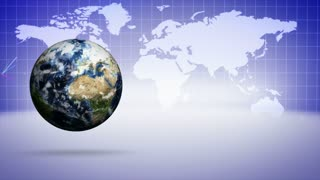 Earth and Business Concept Background, Loop, 4k