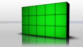 Falling Green Screen Cubes, with Alpha Channel, 4k