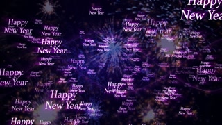 Happy New Year, Text Animation Background, Loop, 4k