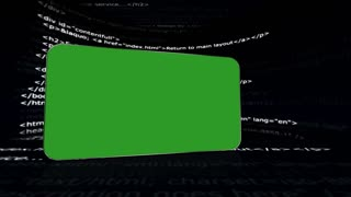 HTML Code Room, with Green Screen and Alpha Channel, Loop, 4k