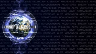 MINDFULNESS Keywords Texts Animation, Loop, 4k