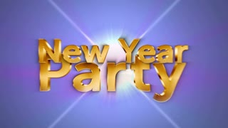 NEW YEAR PARTY Text in Particles, Loop, 4k