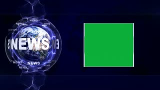 NEWS Text Animation Background and Earth, Loop, 4k