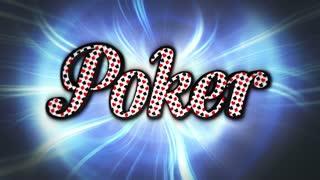 Poker Text Animation, Loop, 4k