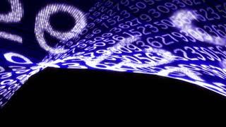 Random Numbers Technology Code Background, Loop, 4k