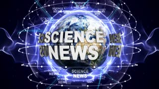 SCIENCE NEWS Text Animation and Earth, Loop, 4k