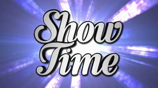 SHOW TIME  Animation Rotation Text and Disco Dance Background, with Alpha Channel, Loop, 4k