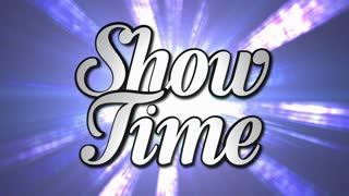 SHOW TIME  Animation Text and Disco Dance Background, Zoom IN/OUT Rotation, with Alpha Channel, Loop, 4k