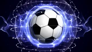 SOCCER BALL Animation, Loop, 4k