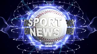 SPORT NEWS, and Sports Balls, Green Screen, Loop, 4k