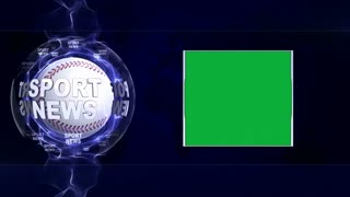 SPORT NEWS Text Animation, Sports Balls and Green Screen, Loop, 4k