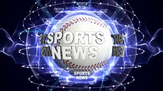 SPORTS NEWS Text Animation and Sport Balls, Loop, 4k