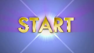 START Gold Text in Particles, 4k