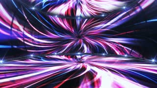 Abstract Technology Universe Tunnel Animation, Room and Lights, Background, Rendering, Loop, 4k