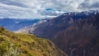 Andean Mountain, Colca Canyon, Peru, South America, Time Lapse, 4k