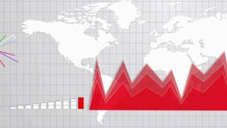 Business Background, Earth, Graphs and Charts, Animation, Rendering, Loop, 4k