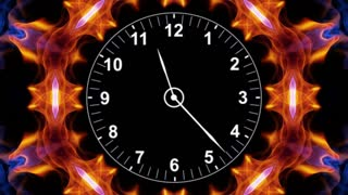 Clocks into Kaleidoscope Animation, Rendering, Time Travel Concept, Background, Loop, 4k