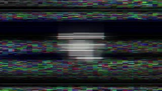 DATA DELETED Glitch Text Animation (3 Versions with Alpha Channel), Old Gaming Console Style, Rendering, Background, Loop, 4k
