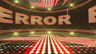 ERROR Text and Abstract Crazy Lights Bulb Animation, CGI, Rendering, Background, Loop, 4k