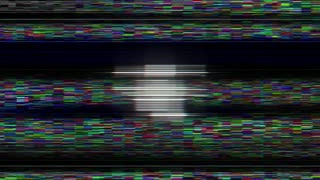 FAKE NEWS Glitch Text Animation, Rendering, Background, Loop, 4k