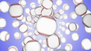 Falling BASEBALL BALL Animation Background, Rendering, with Alpha Channel, Loop, 4k