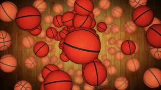Falling BASKET BALL Animation Background, Rendering, with Alpha Channel, Loop, 4k