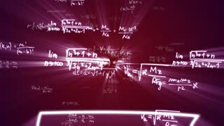 Falling Mathematic Animation Code Numbers, Rendering, Overlay Transition, Loop, 4k